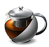 Vector clipart: stainless steel teapot