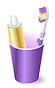 Vector clipart: toothbrush