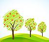 Векторный клипарт: деревья с плодами
