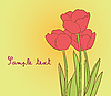 Vector clipart: red tulips