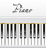 Vector clipart: white piano