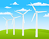 Vector clipart: Wind turbines