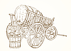 Vector clipart: vintage carriage