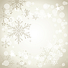 Vector clipart: gray winter background with snowflakes