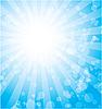 Векторный клипарт: синие лучи