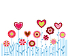 Vector clipart: flowers and hearts