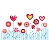 Векторный клипарт: цветы и сердечки