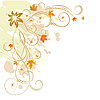 Vector clipart: floral elements on autumn theme