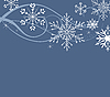 Vector clipart: background with snowflakes