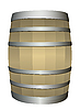 Vector clipart: wooden barrel