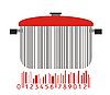 Vector clipart: bowl as stylized barcode