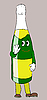 Vector clipart: cartoon champagne bottle