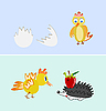 chicken and hedgehog