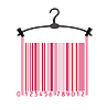 Vector clipart: clothes hanger and barcode