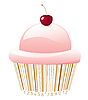 Vector clipart: cupcake stylized with bar-code
