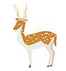 Vector clipart: cartoon deer