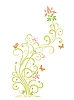 Vector clipart: floral pattern with butterflies