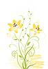 Vector clipart: yellow flowers
