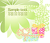 Vector clipart: floral background with gifts