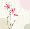 Vector clipart: floral greeting card