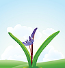 Vector clipart: blue flower