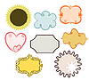 Vector clipart: simple frames