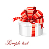 Vector clipart: gift box with red bow