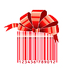 Vector clipart: gift stylized with bar-code