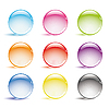 Vector clipart: glass round buttons