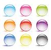 Стеклянные круглые кнопки