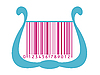 Vector clipart: harp stylized as barcode
