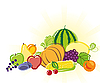 Vector clipart: fruits and vegetables