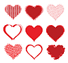 set of halftone hearts