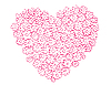 Vector clipart: heart of flowers