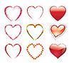 Векторный клипарт: набор сердечек