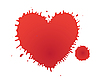 Vector clipart: stain as heart
