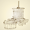 Vector clipart: Old wine press