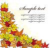 Ecke von Herbstblättern