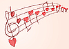 Vector clipart: love music