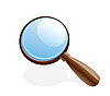 Vector clipart: magnifier