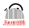 Vector clipart: kettle as stylized barcode