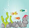 Векторный клипарт: подводная жизнь