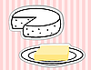 Vector clipart: butter and cheese