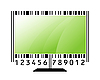 Vector clipart: monitor stylized as barcode