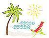 Vector clipart: beach