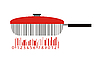 pan as stylized barcode