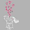 Vector clipart: cute romantic couple
