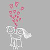 Векторный клипарт: милая романтическая пара