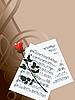 Vector clipart: musical notes and red rose