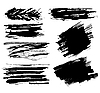 Vector clipart: blots